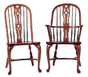cherry dining chair bow back